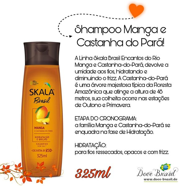 Shampoo Manga e Castanha do Parà 325ml