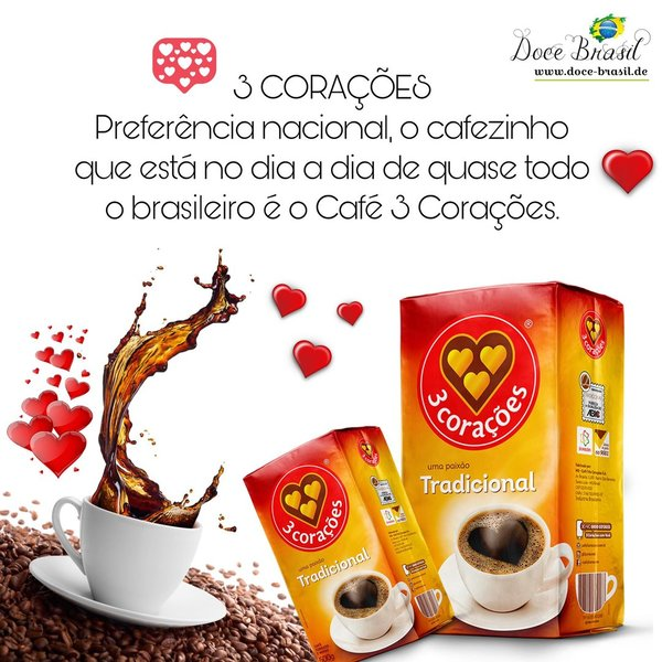 Cafe 3 Coracoes Tradicional 250g